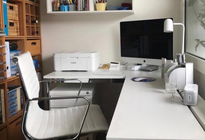 Робоче місце з принтером.